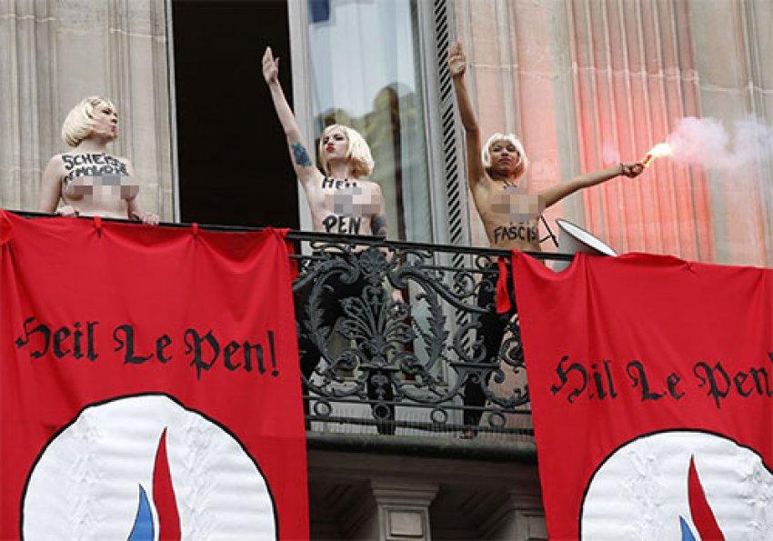 FEMEN, Le Pen'e karşı!