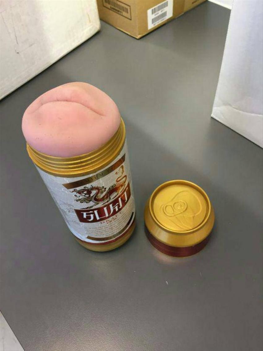 Bira kutusu sandılar, seks oyuncağı çıktı!