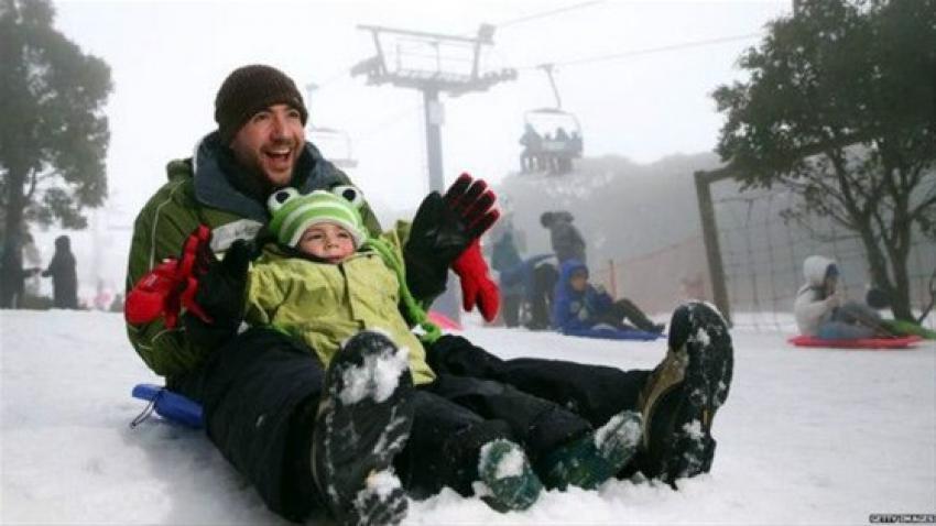 En sıcak yerlerden biriydi! Şaşırtıcı kar yağışı