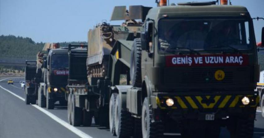 Sınıra tank ve asker sevkiyatı