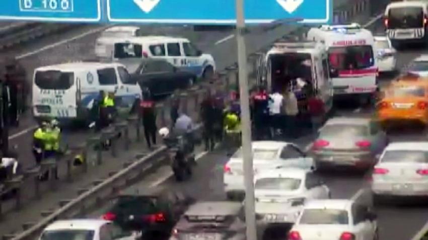 E-5 karayolu Çağlayan mevkinde kaza