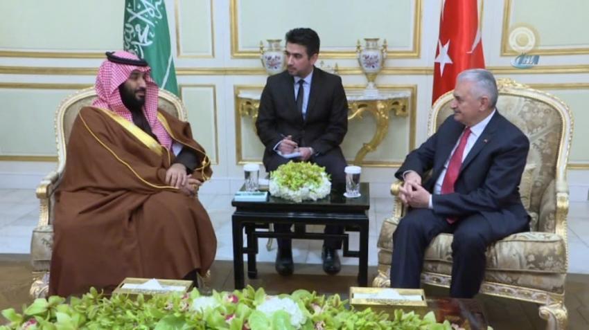 Yıldırım, Suudi Veliaht Prensi ile görüştü