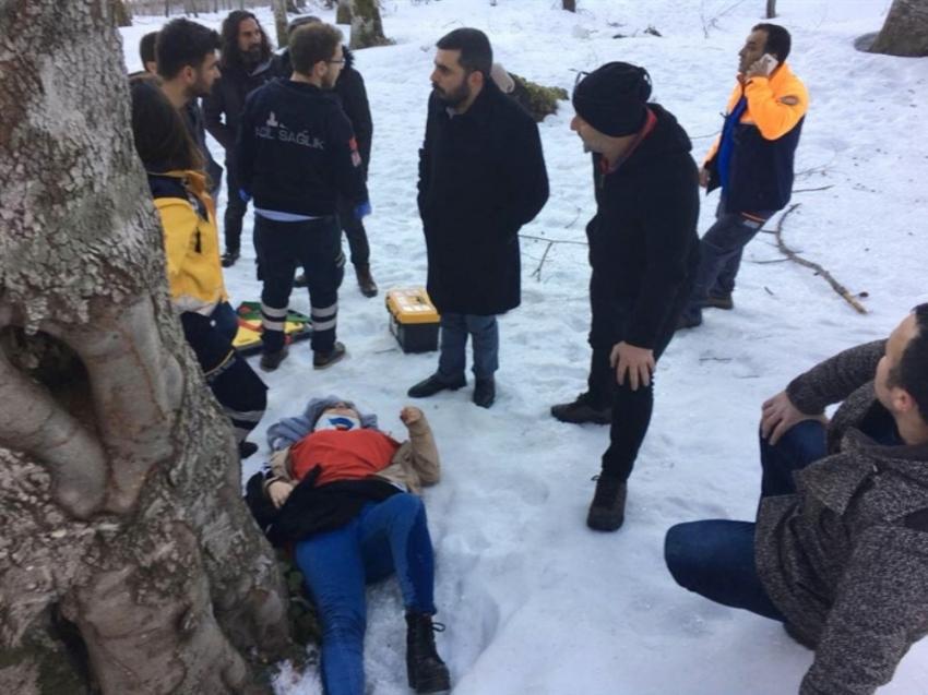 100 mtere yükseklikten aşağıya yuvarlandı AFAD kurtardı