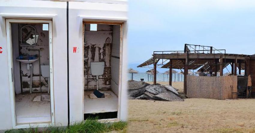Ünlü plaj sahipsiz kaldı