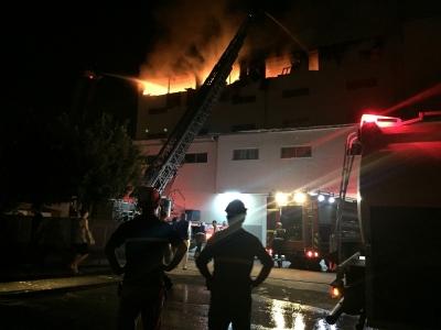 Mersin'de tekstil atölyesinde yangın