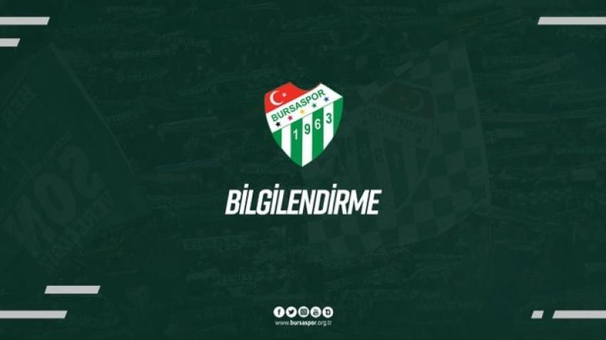 Bursaspor'da Covıd19 test sonuçları açıklandı