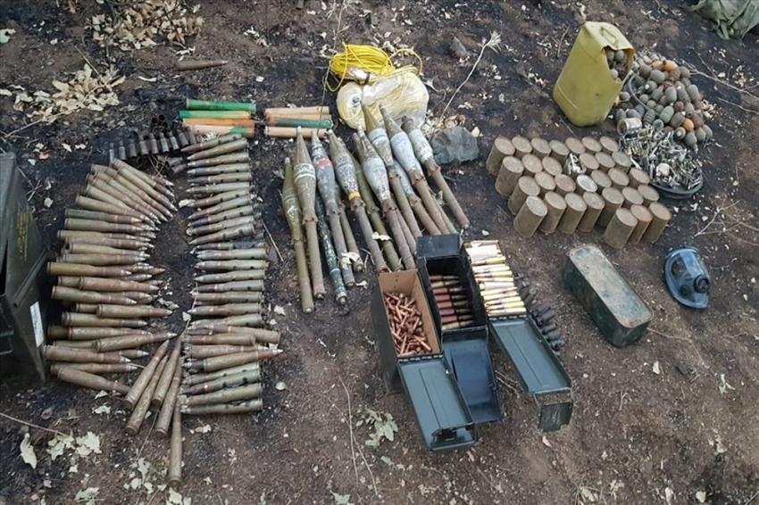"""MSB: """"Terör örgütü PKK'ya ait lojistik depolar imha edildi"""""""