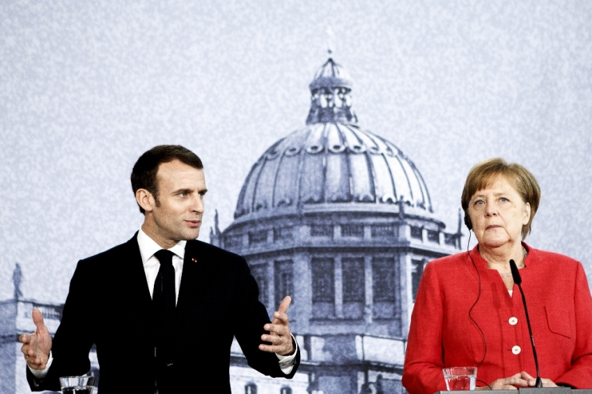 Merkel ve Macron'dan İsrail ve İran'a çağrı