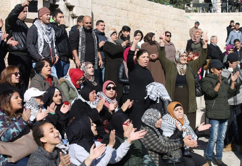 Filistin halkı sokaklarda