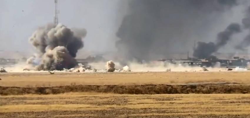 70 Irak askerinin öldüğü iddia edilen saldırı kamerada