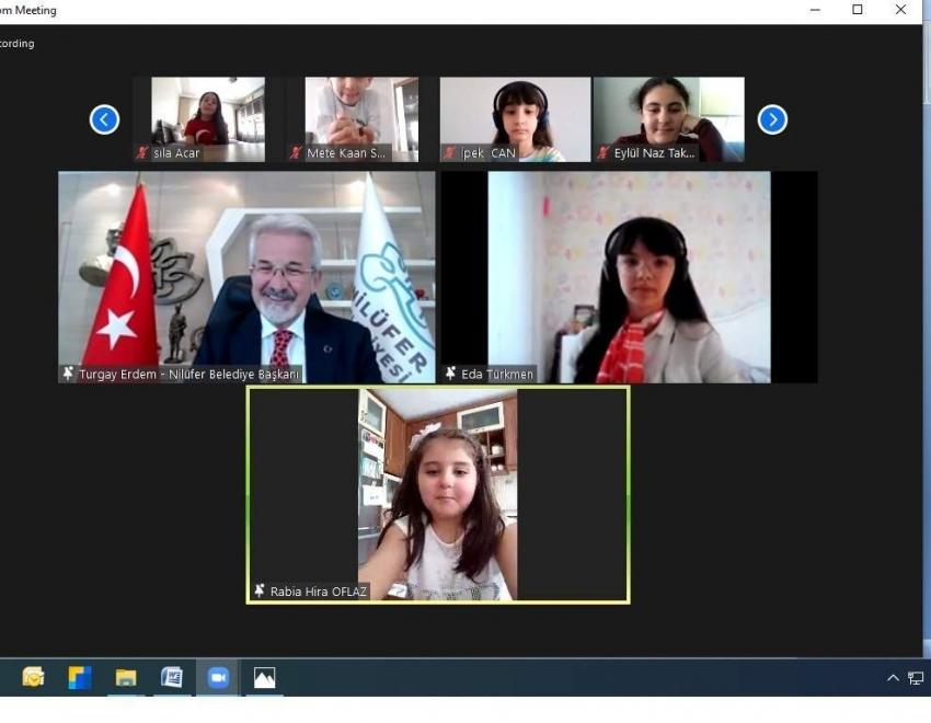 Nilüferli çocuklar Turgay Başkan'la buluştu