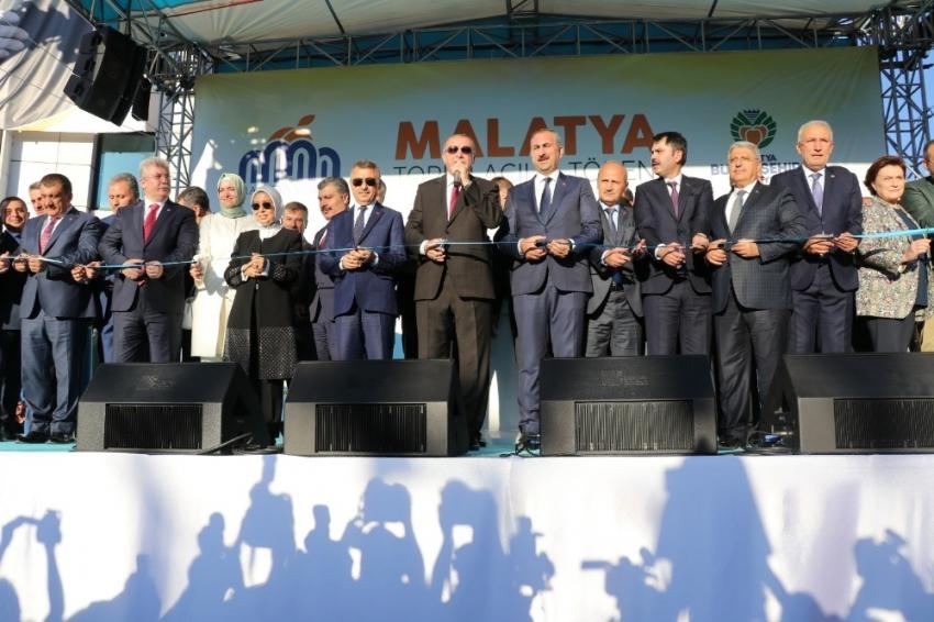 Cumhurbaşkanı Erdoğan Malatya'da toplu açılış törenine katıldı