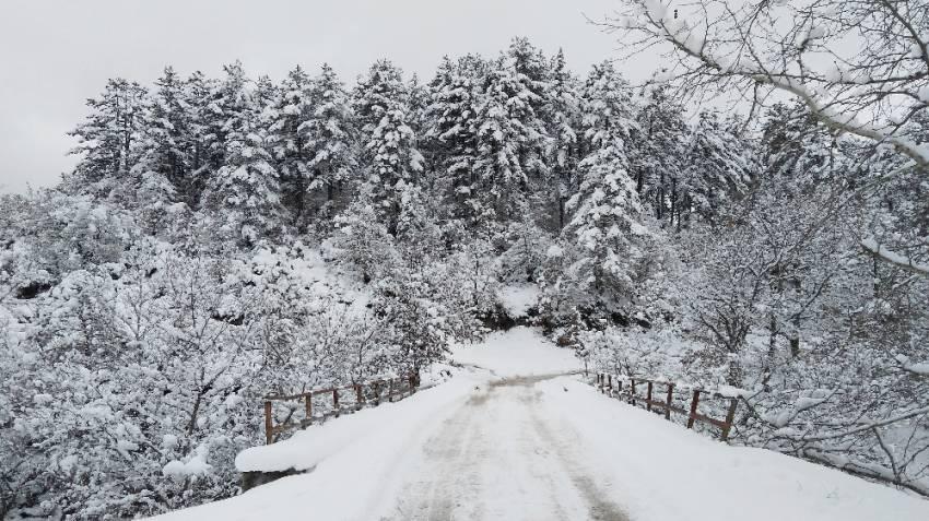 Kazdağları muhteşem kar manzaraları ile adeta büyülüyor