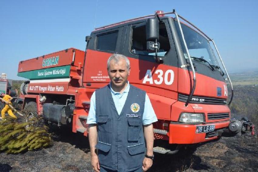 Bursa'da 5 hektar çam ormanı böyle yandı