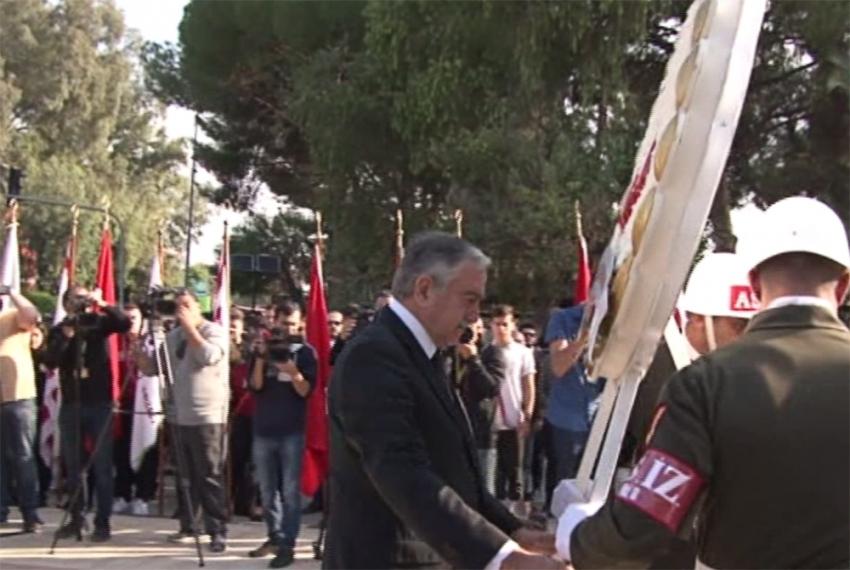 Atatürk, KKTC'de törenle anıldı