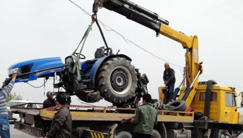 Traktör ile otomobil çarpıştı: 1 ölü, 4 yaralı