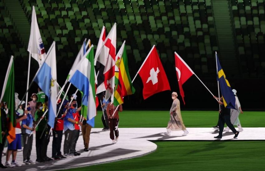 Tokyo Olimpiyatları'nın kapanış töreninden görüntüler