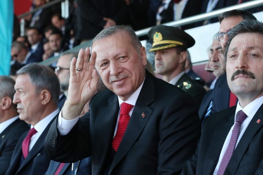 """Cumhurbaşkanı Erdoğan Çanakkale'den haykırdı: """"Biz buradayız"""""""
