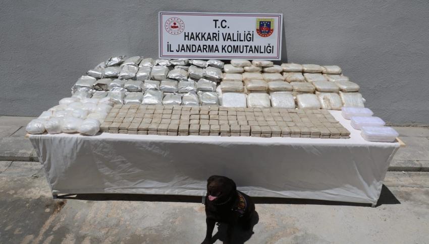 181 kilogram uyuşturucu ele geçirildi