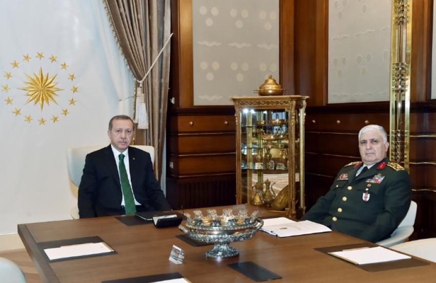 Erdoğan Genelkurmay Başkanıyla görüştü