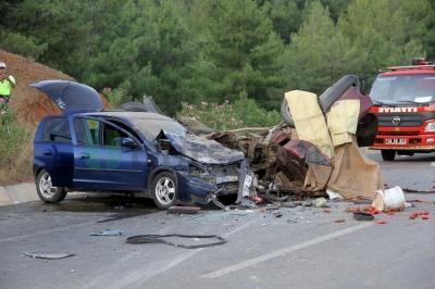 Fethiye'de feci kaza: 2 ölü, 6 yaralı
