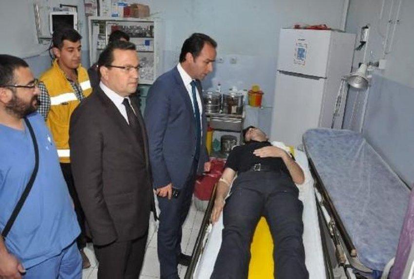 Polisler kaza yaptı: 17 yaralı