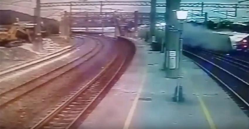 Tren faciası kamerada