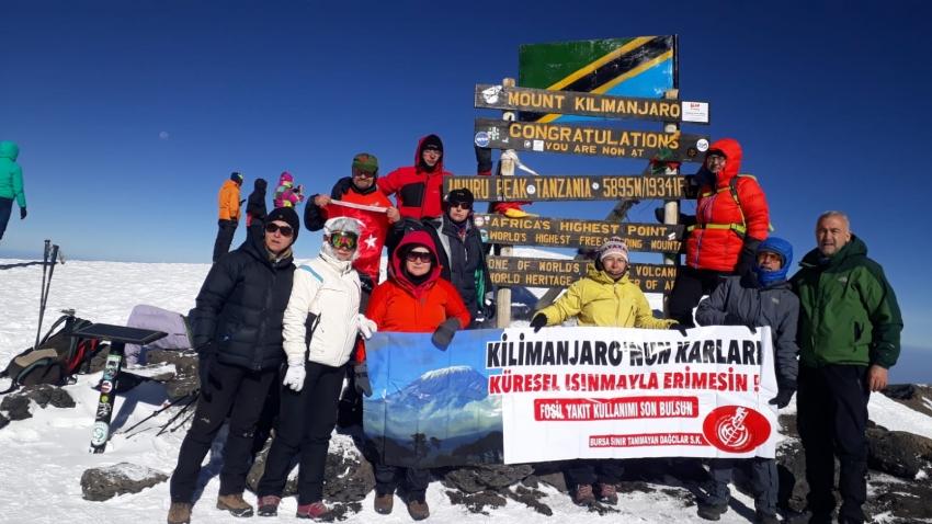 Kilimanjaro'da Bursa rüzgarı!