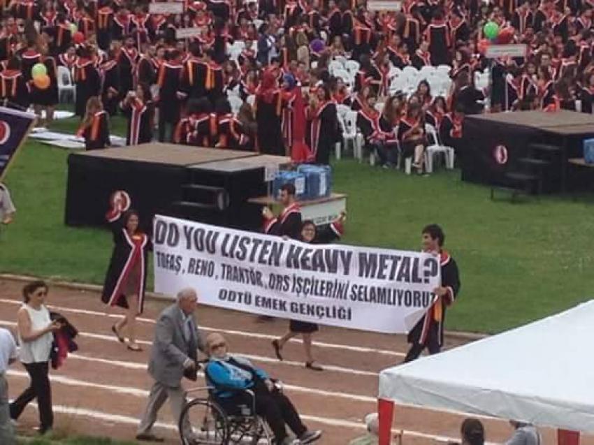 ODTÜ'de pankartlar konuştu