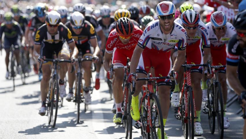 Fransa Bisiklet Turu'nda şok olay