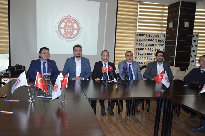 Bursa merkezli İnternet Gazetecileri Federasyonu kuruldu