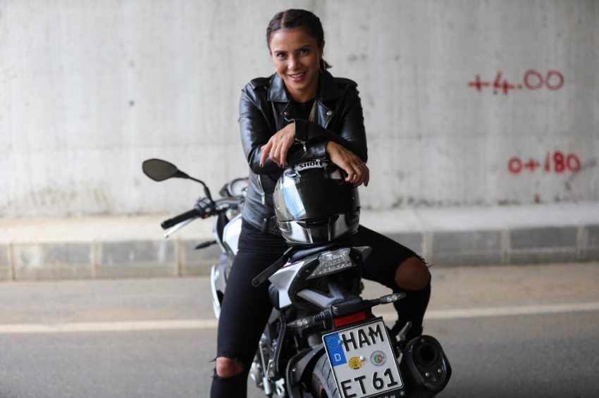 Survivor Sabriye'nin motosiklet tutkusu