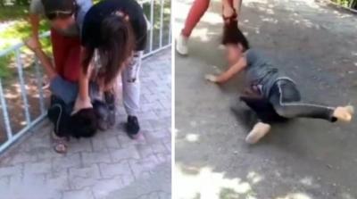13 yaşındaki kız çocuğunu önce saçından tutup sürüklediler sonra da tekme tokat dövdüler