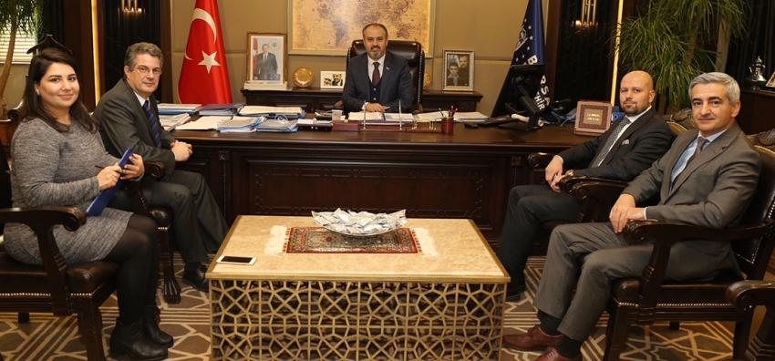 Bursagaz yönetiminden Başkan Alinur Aktaş'a ziyaret