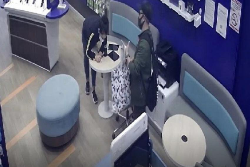 Bursa'da cep telefonu hırsızı kameraya yakalandı