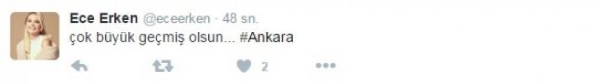 Ankara'daki patlama ile sosyal medya paylaşımları