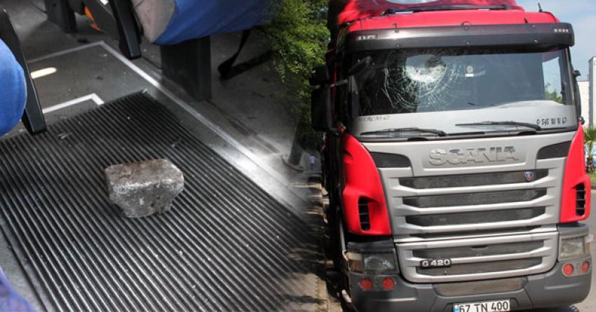 Bir gecede 7 aracın camı kırdılar