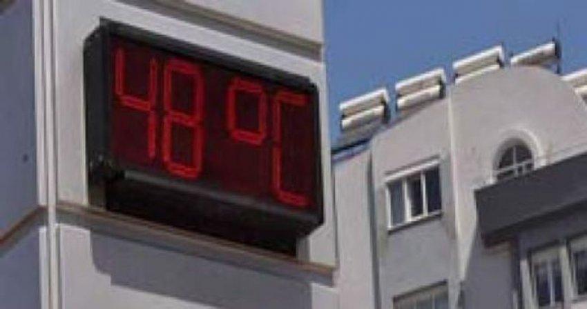 Termometreler 48 dereceyi gösterdİ