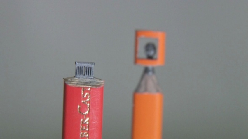 Kurşun kalemin ucundaki sanat
