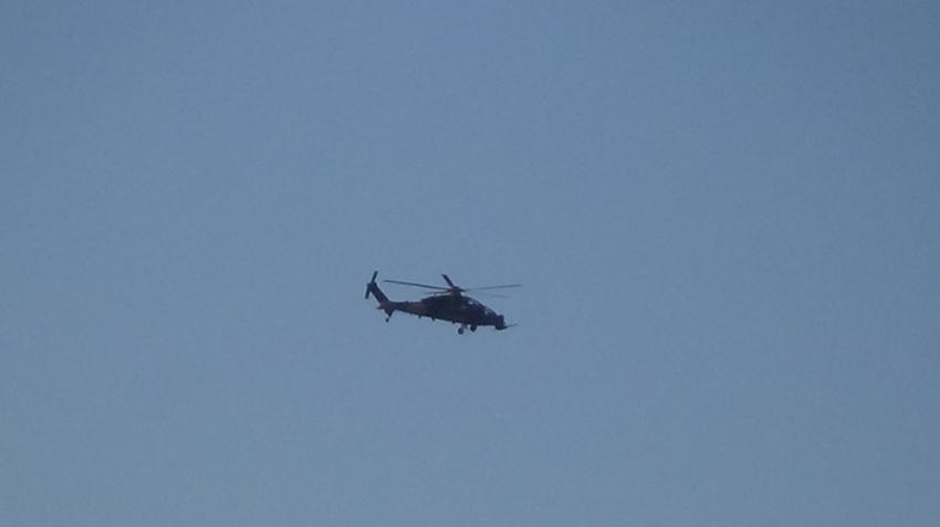 Yüksekova'dan Irak sınırına taarruz helikopterleri