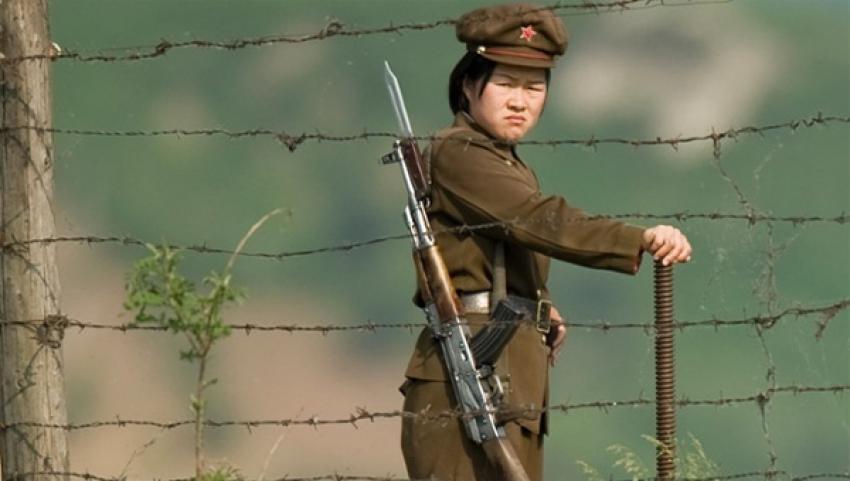 Mayınlı araziyi geçip G. Kore'ye sığındı