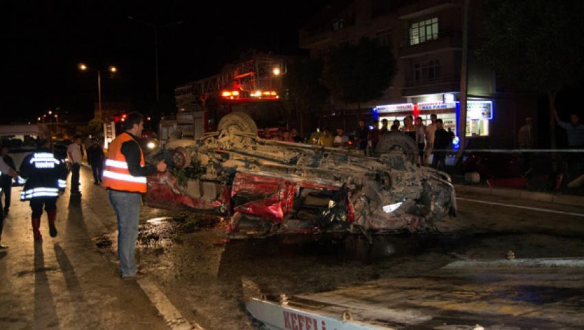 Terme'de trafik kazası: 11 yaralı