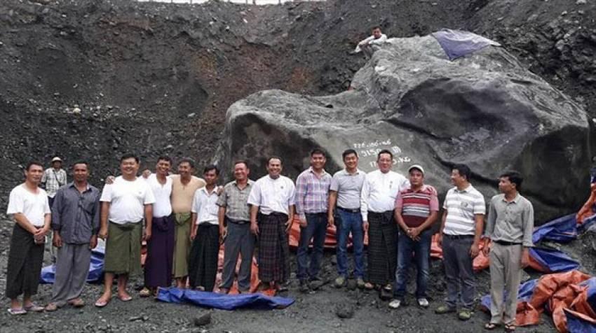 175 ton yeşim taşı bulundu