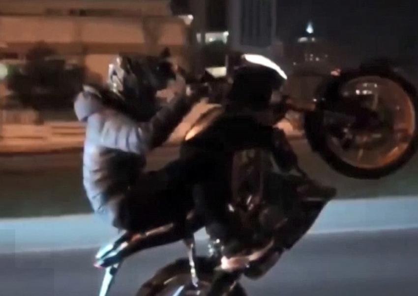 Motosikletli magandanın tek teker terörü