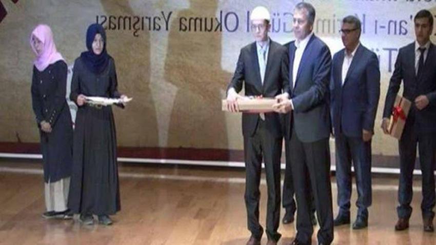 Kur'an-ı Kerim'i güzel okuma yarışmasında Bursalı başarısı