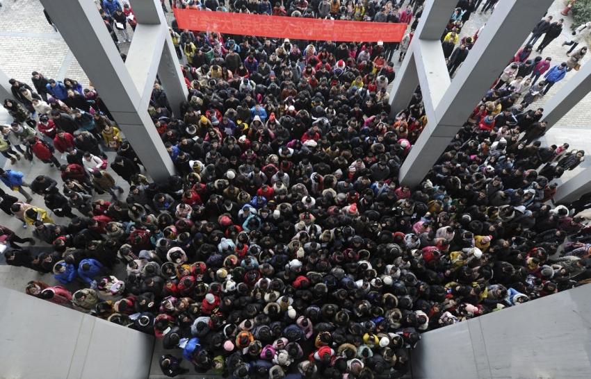 Çin'in önlenemez nüfus artışı ve fotoğraflara yansıyanlar...