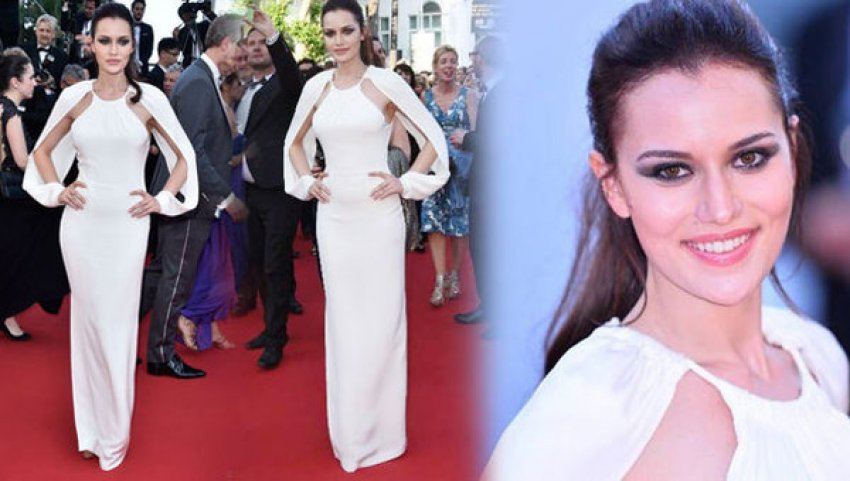 Fahriye Evcen, Cannes'ı salladı