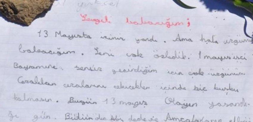 Soma'da kaybettiği babasına yazdığı mektup yürekleri dağladı