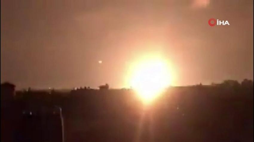 İsrail savaş uçakları 4 askeri noktaya saldırdı