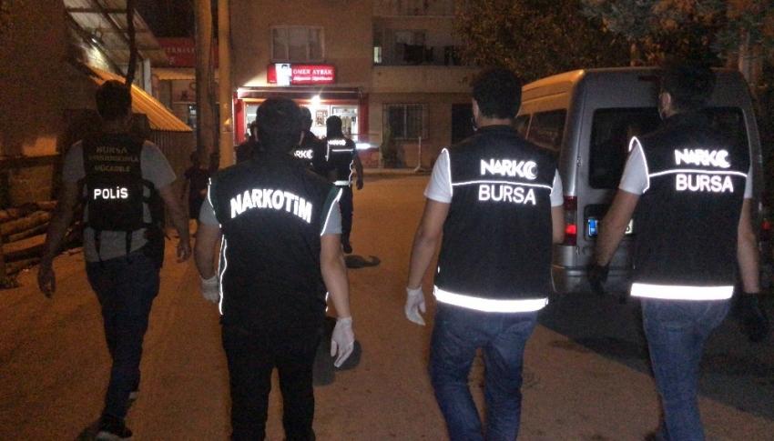 Bursa'da uyuşturucu satıcılarına nefes kesen operasyon